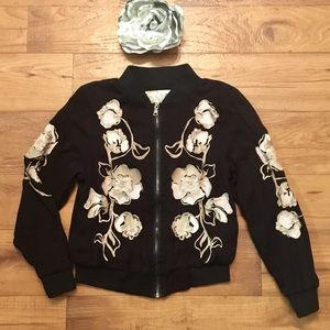 UO Kimchi Blue Molly Embroidered Bomber Jacket